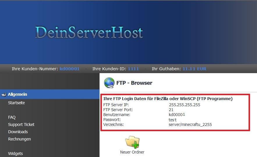 TekBase FTP-Daten